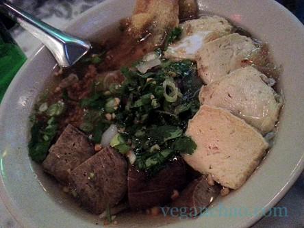 Pye Boat Noodle tofu noodle soup vegan