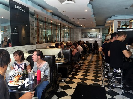 champs diner nyc brooklyn vegan meserole street interior view